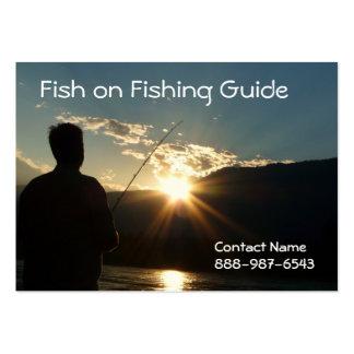 Pesca hasta la puesta del sol plantillas de tarjetas personales