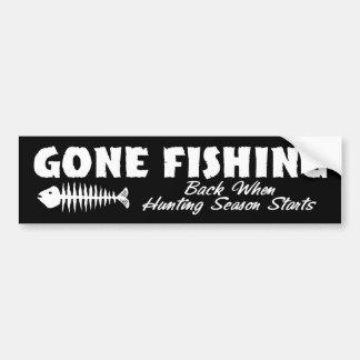 Pesca ida pegatina de parachoque