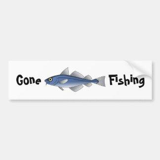 Pesca ida etiqueta de parachoque