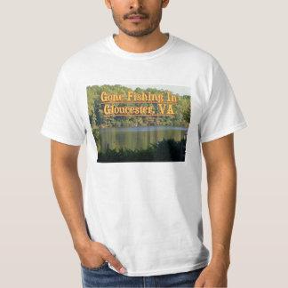 Pesca ida en Gloucester, VA - camiseta Polera