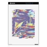 Pesca ida (impresión de la hawaiana del vintage) calcomanías para iPad 2