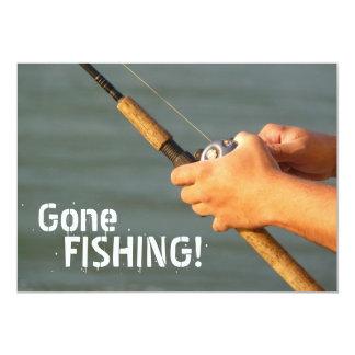 ¡Pesca ida! Invitación del viaje de pesca de la Invitación 12,7 X 17,8 Cm