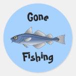 Pesca ida pegatinas redondas