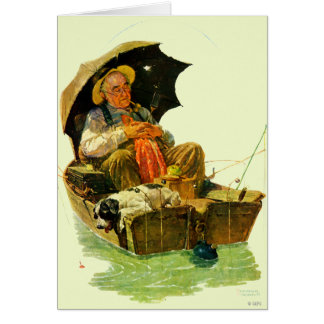 Pesca ida tarjeta de felicitación