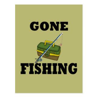 Pesca ida tarjeta postal