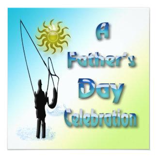 Pesca - invitación feliz del día de padre