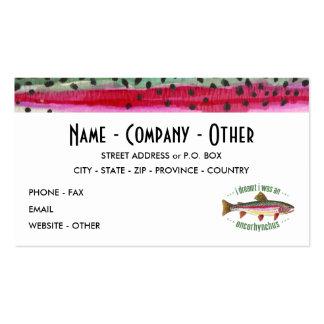 Pesca modificada para requisitos particulares de tarjetas de visita