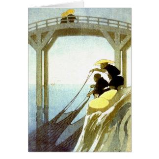 Pesca neta 1913 tarjeta de felicitación