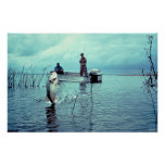 Pesca para el bajo grande de la boca poster