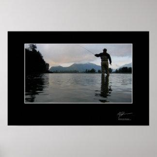 Pesca para el coho adentro A.C. Poster