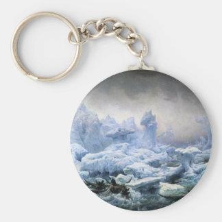Pesca para la morsa en el Océano ártico Llavero Redondo Tipo Pin