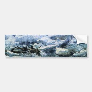 Pesca para la morsa en el Océano ártico Pegatina Para Auto