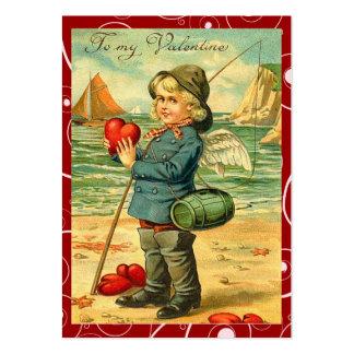 Pesca para las notas del amor de la tarjeta del dí tarjeta de visita
