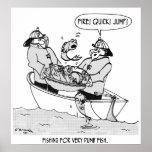 Pesca para los pescados mudos impresiones