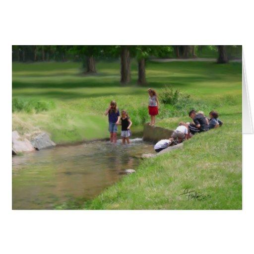 Pesca para los Tadpoles Tarjetón