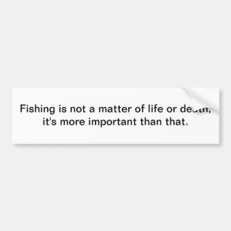 Pesca - pegatina para el parachoques etiqueta de parachoque