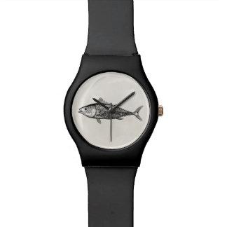 Pesca personalizada pescados de los atunes de los relojes de mano