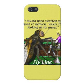Pesca - pesca con mosca - de la línea de la mosca iPhone 5 funda