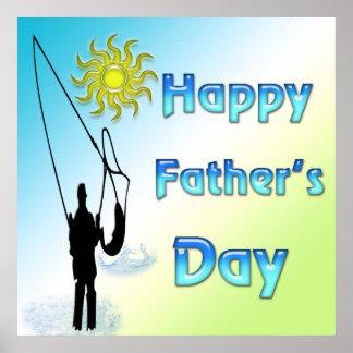 Pesca - poster feliz del día de padre