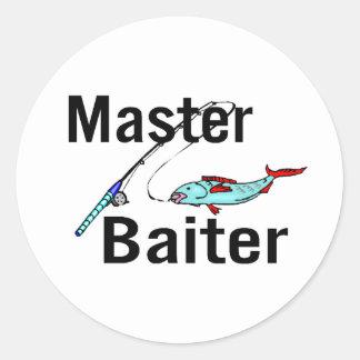 Pesca principal de Baiter Pegatina Redonda