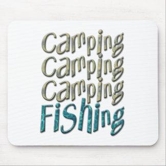Pesca que acampa tapetes de ratones