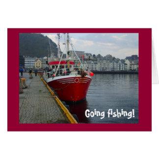 ¡Pesca que va! Barco de pesca del agua profunda Tarjeta De Felicitación