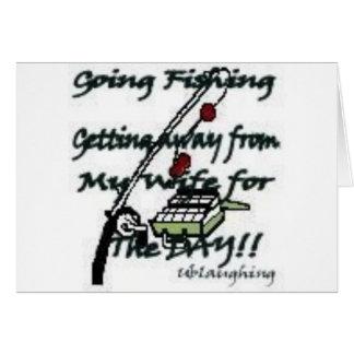 Pesca que va tarjeta de felicitación