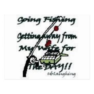 Pesca que va tarjeta postal
