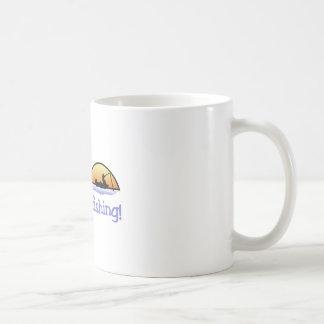 Pesca que va taza de café