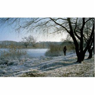 Pesca, río de Kuban, Rusia Fotoescultura Vertical