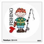 Pesca roja del amor del muchacho I del pelo