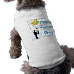 Pesca - ropa feliz del mascota del día de padre camisetas mascota