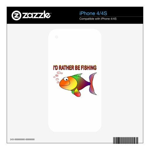 pesca skins para iPhone 4