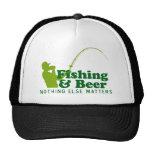 Pesca y cerveza gorras