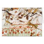 Pesca y fowling en los pantanos tarjeta de felicitación