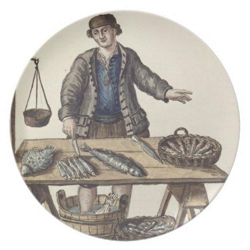 Pescadero, veneciano (manuscrito) plato
