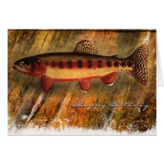 Pescado-BD pintado Tarjeta De Felicitación