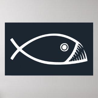 pescado-colmillos-DKT Póster