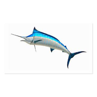 Pescado de la aguja azul tarjetas de visita