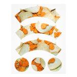 Pescado frito con patatas fritas plantillas de membrete