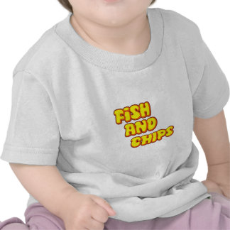 pescado frito con patatas fritas camisetas