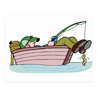 Pescador ávido postal