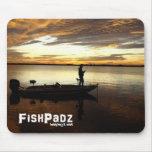 Pescador bajo Mousepad Tapete De Raton