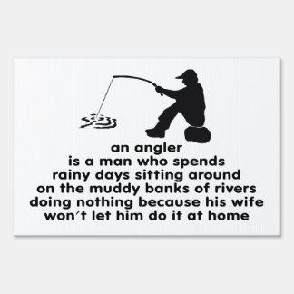 Pescador chistoso señal