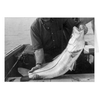 Pescador con Snook, Marco Island, la Florida, 1965 Felicitación
