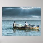 Pescador de Galilea - em Israel de Pescadores Gali Póster