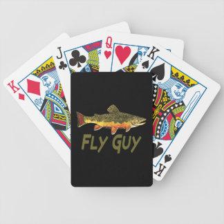 Pescador de la mosca barajas de cartas