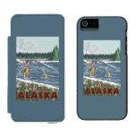 Pescador de la mosca - curry, Alaska Funda Billetera Para iPhone 5 Watson