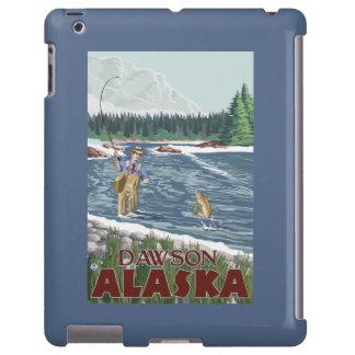 Pescador de la mosca - Dawson, Alaska Funda Para iPad