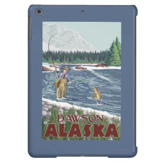 Pescador de la mosca - Dawson, Alaska Funda Para iPad Air